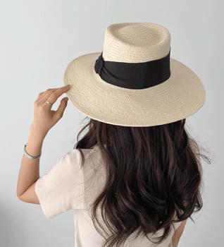 韓國空運 - Big Ribbon Panama Hat #86073 帽子