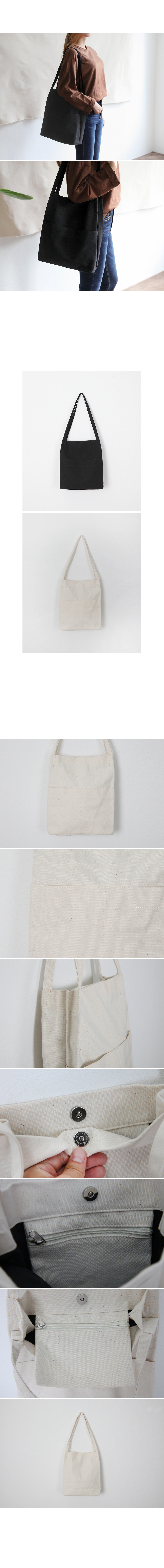 Two Pocket Canvas Eco Bag