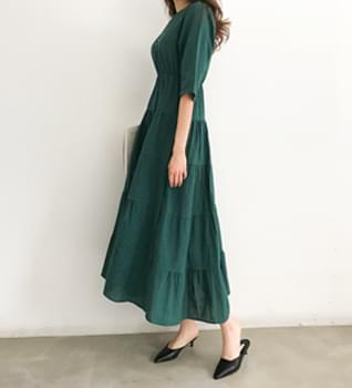 韓國空運 - Levin romantic silhouette long dress #35148 長洋裝