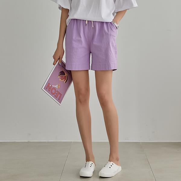 Neat Linen Shorts #75717