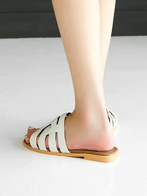 Epis leather slippers 1cm