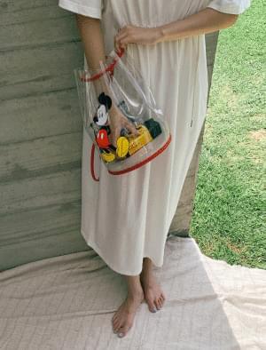 Mickey PVC bucket shoulder bag