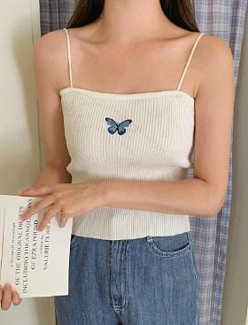 Butterfly Embroidery sleeveless
