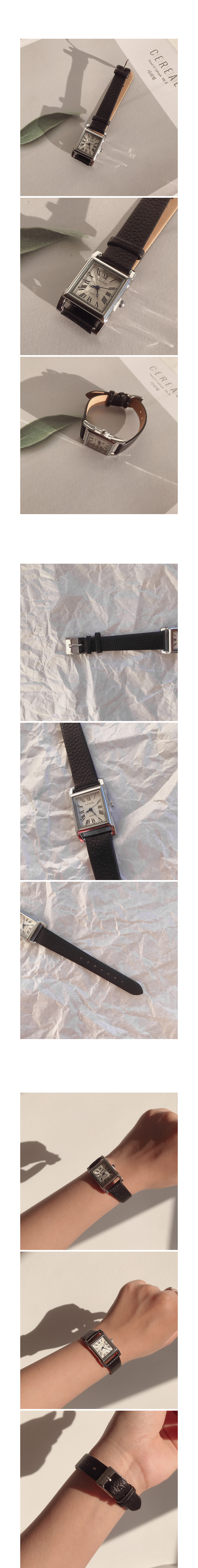 Stainless Steel Leather Watch