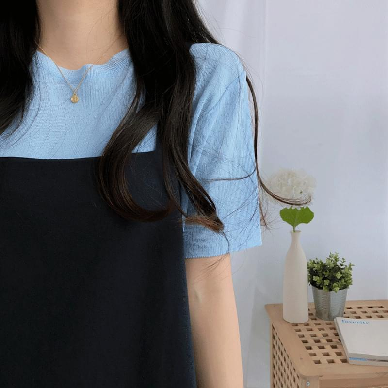 Jelly Crop Short Sleeve Knit