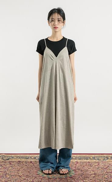 Acre linen sleeveless midi dress
