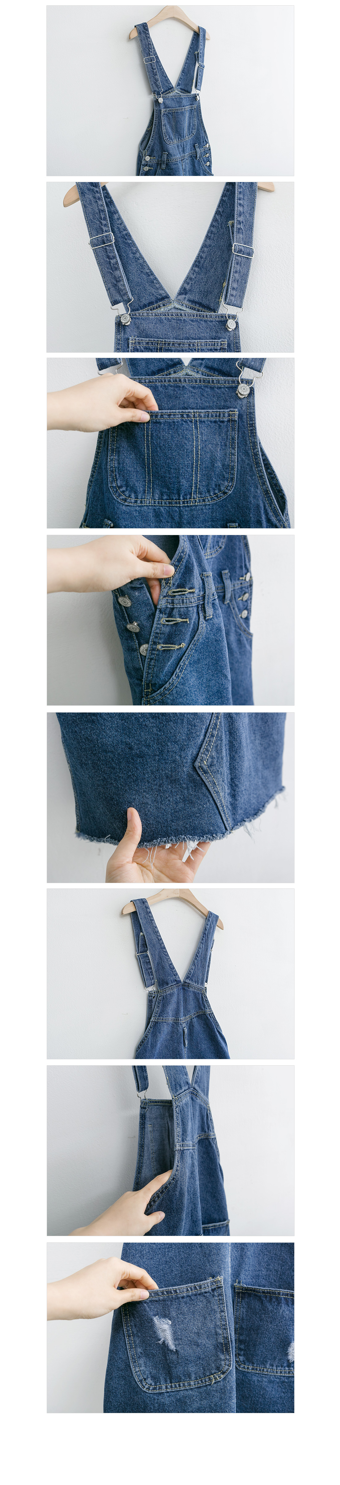 Denim Suspender Skirt #73754 Real Blue L Available