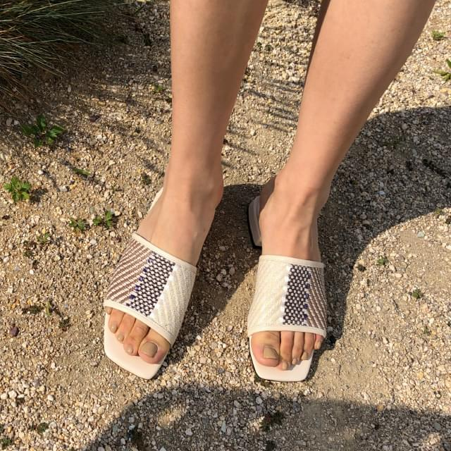 ethnic mood coloration slipper