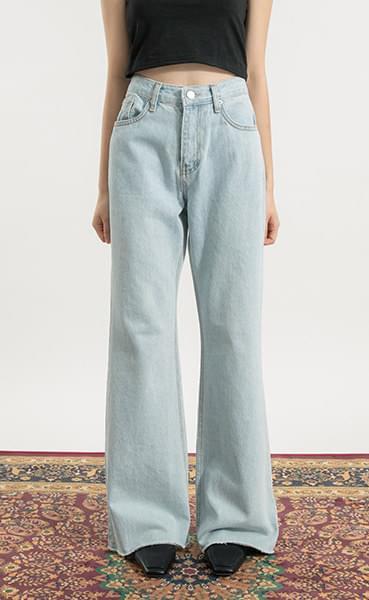 Earth-cut high-rise bootcut jeans