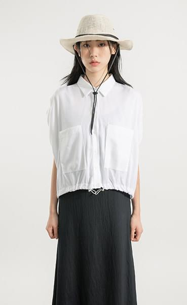 Slime pocket string shirt