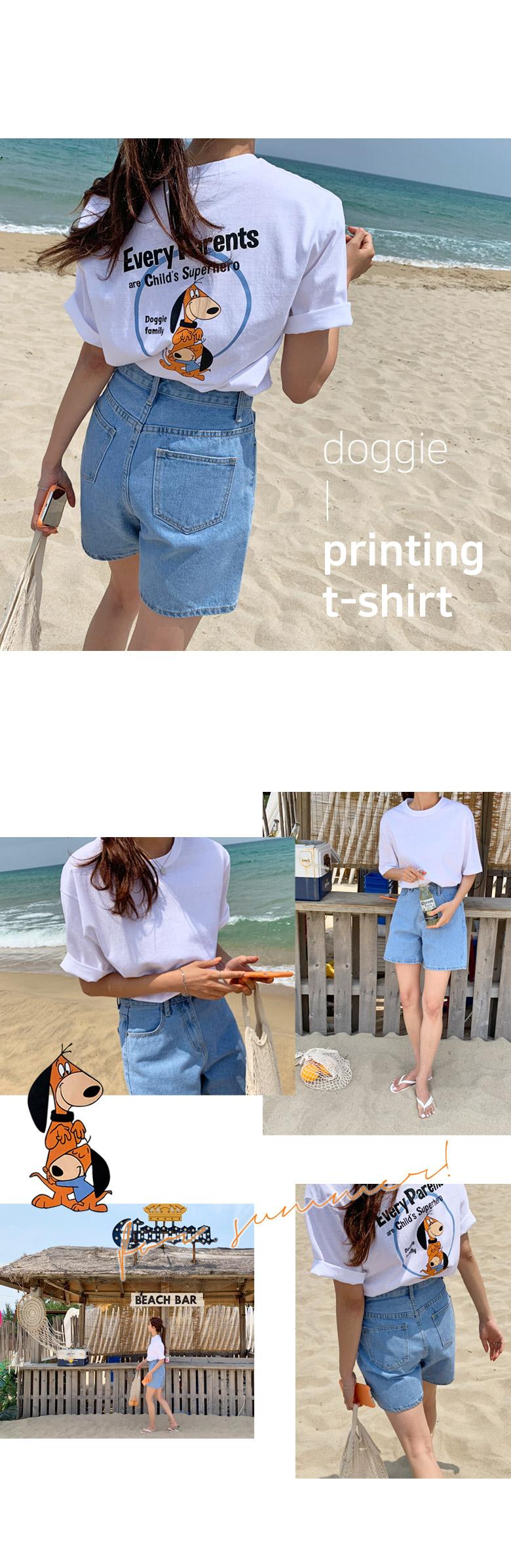 Doggy Bag Printing Short-sleeved T-shirt