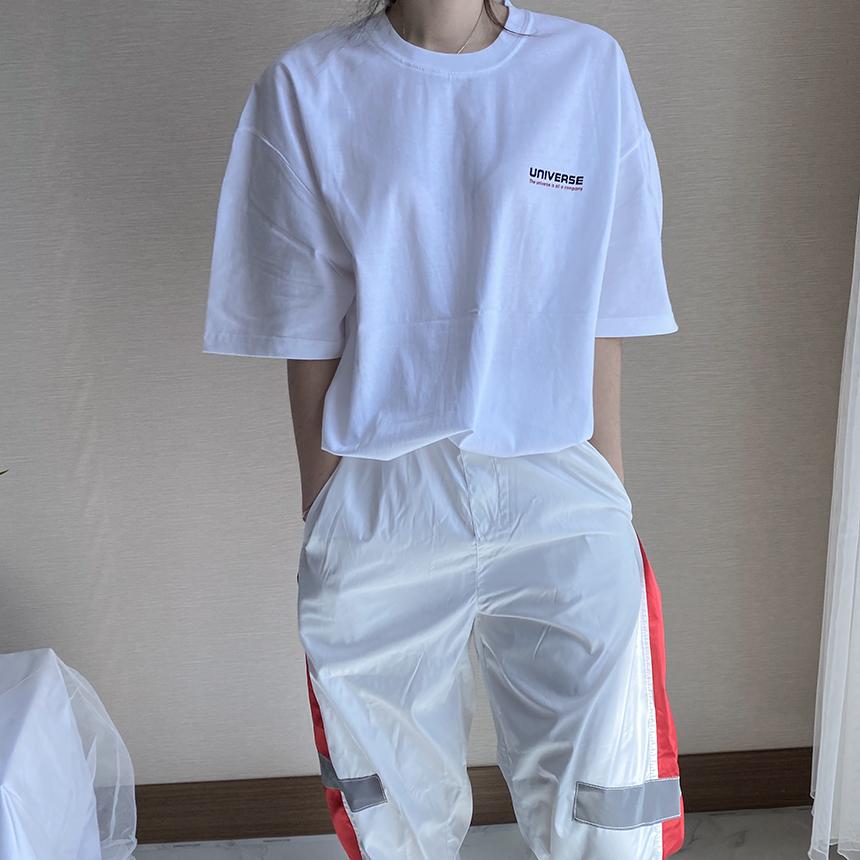 Freejay Uni Printing Rouge Short Sleeve T-Shirt 3colors