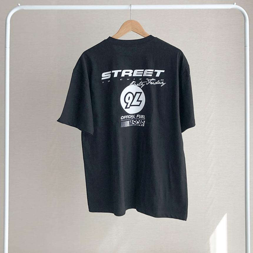 Freejay Street Lettering Basic Short Sleeve T-Shirt 3colors