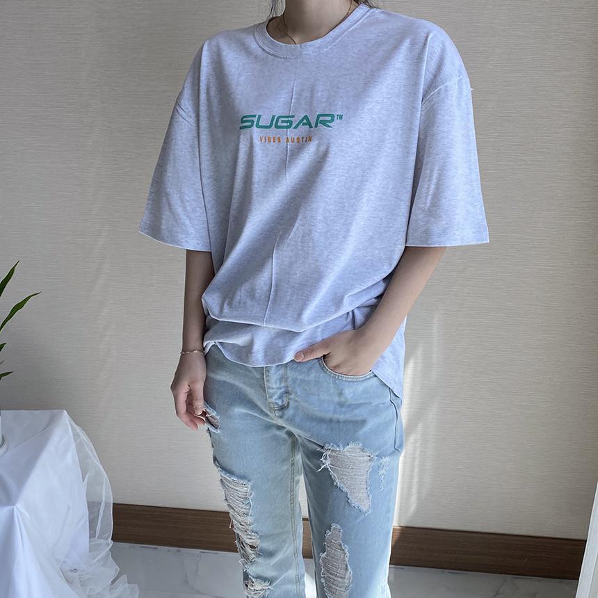 Freejay Sugar Printing Short Sleeve T-Shirt 3colors