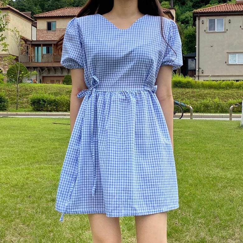 Heylin Girl Check Ribbon Dress 3colors