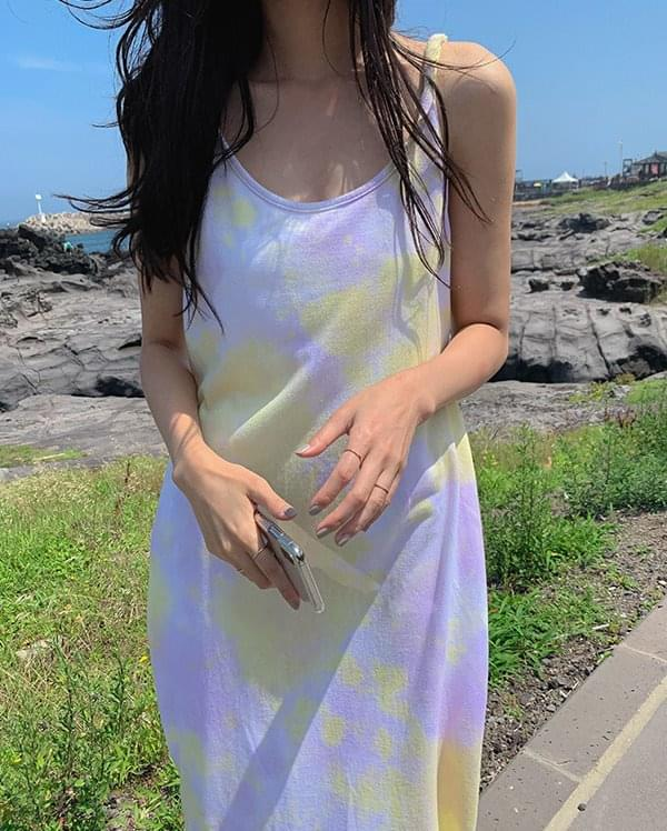 Cloud printing twisted dress