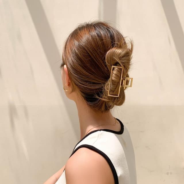 Metal shiny square hair clip