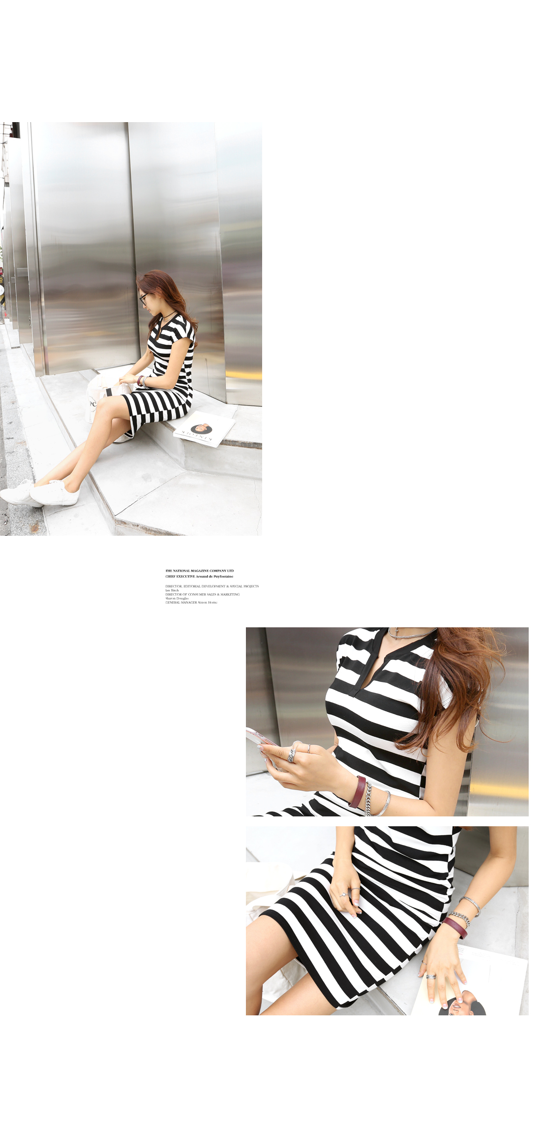 Formal Striped Slim Dress #34031