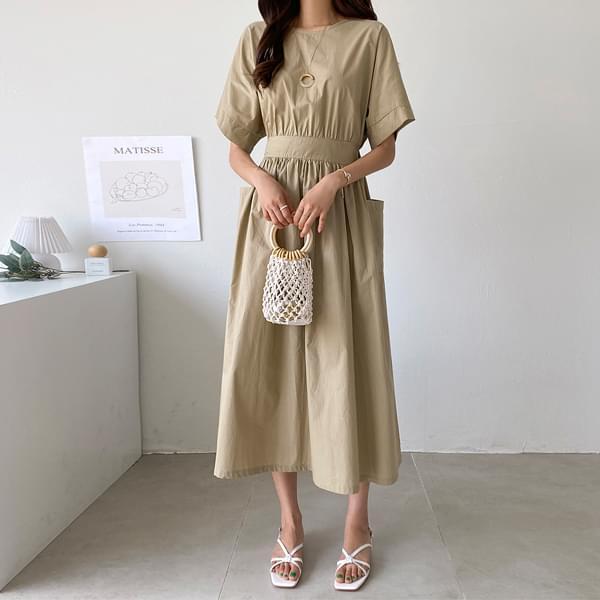 Comfort Pocket Long Dress #37111