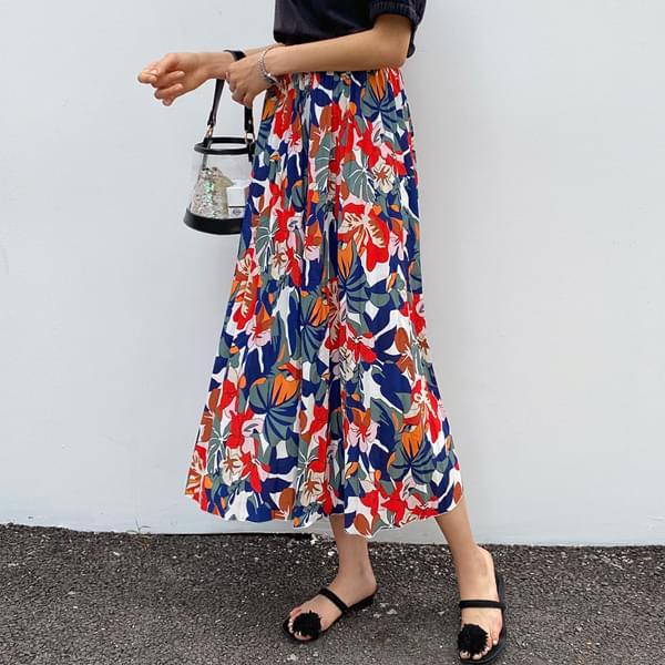 Vivid Tropical Long Skirt #51252
