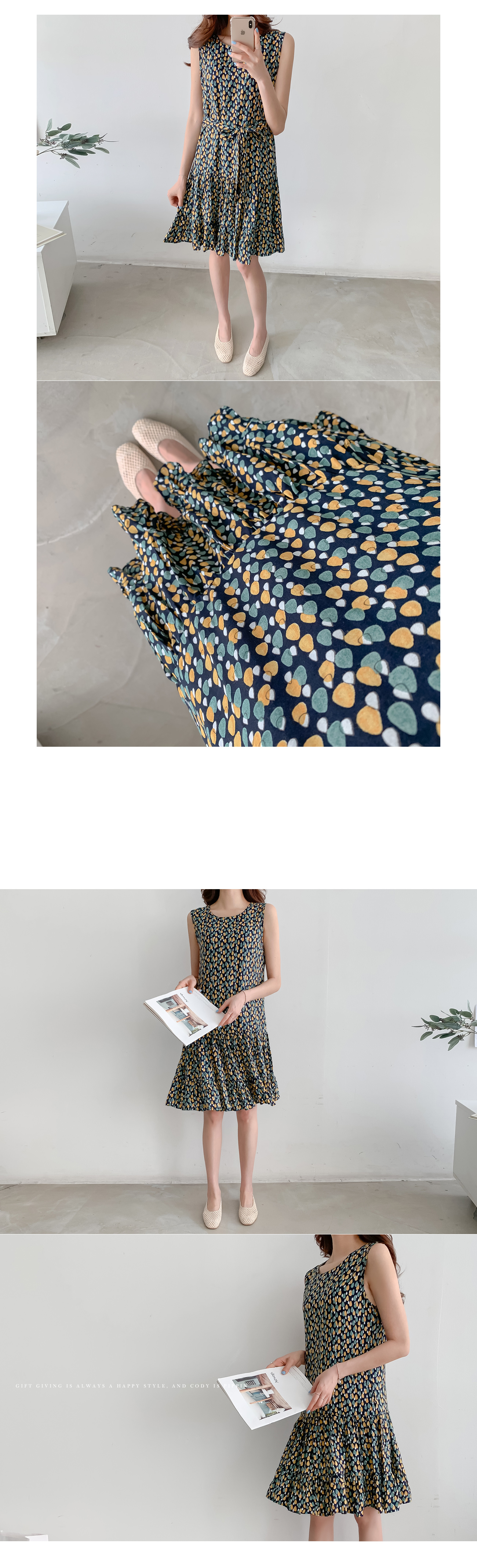Lovely pattern dress #36045
