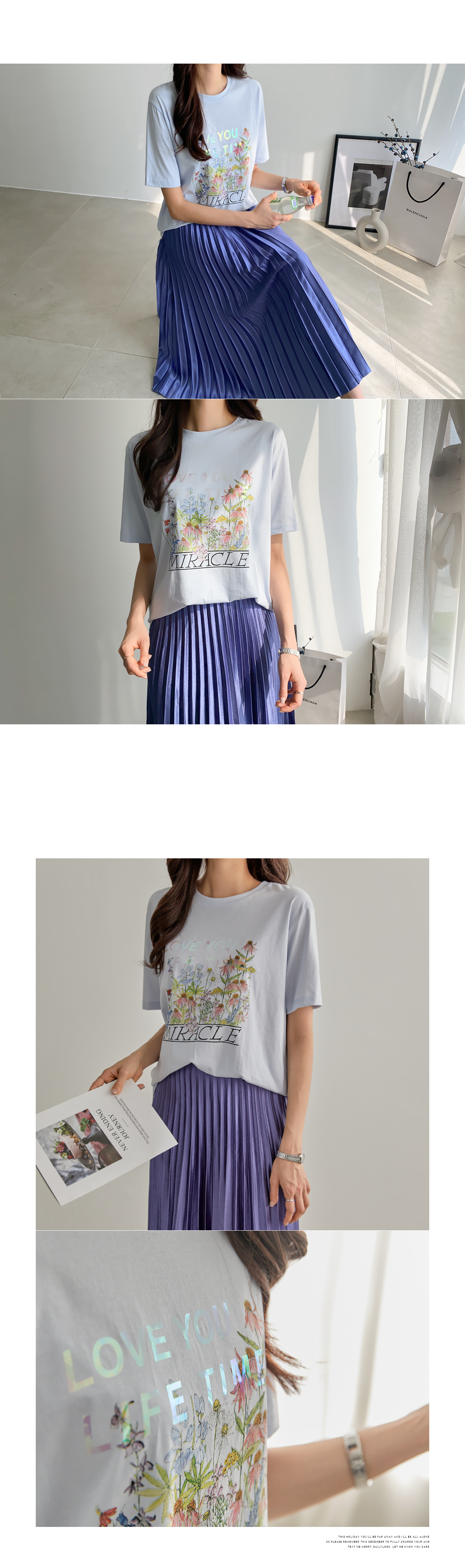 Miracle Aurora T-shirt #108152F Available★Exclusive 3,000won discount★
