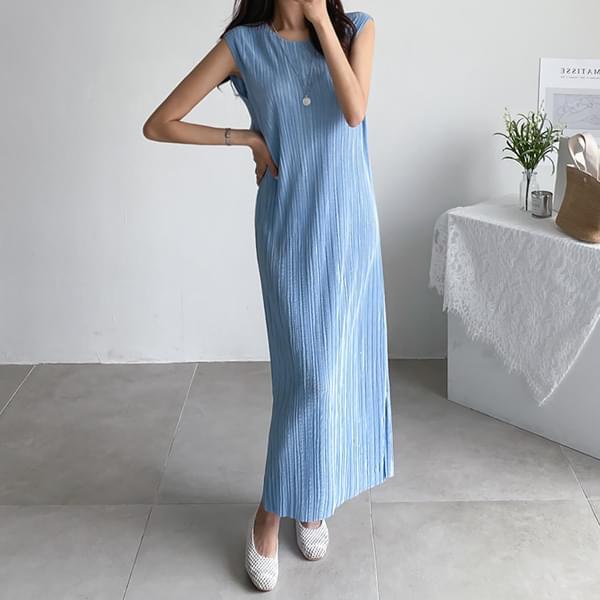 Soft silhouette long dress #37546