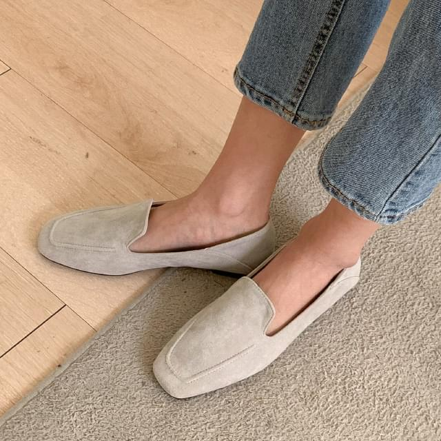 Classic simple suede loafers