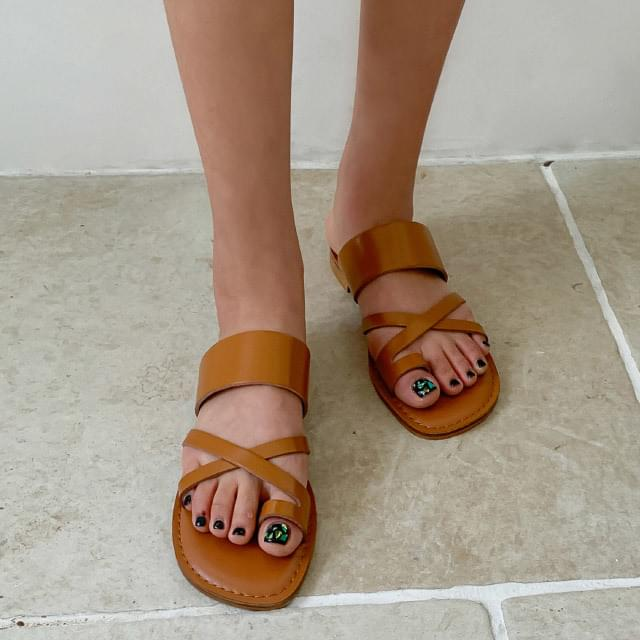 Cross flip flop slippers