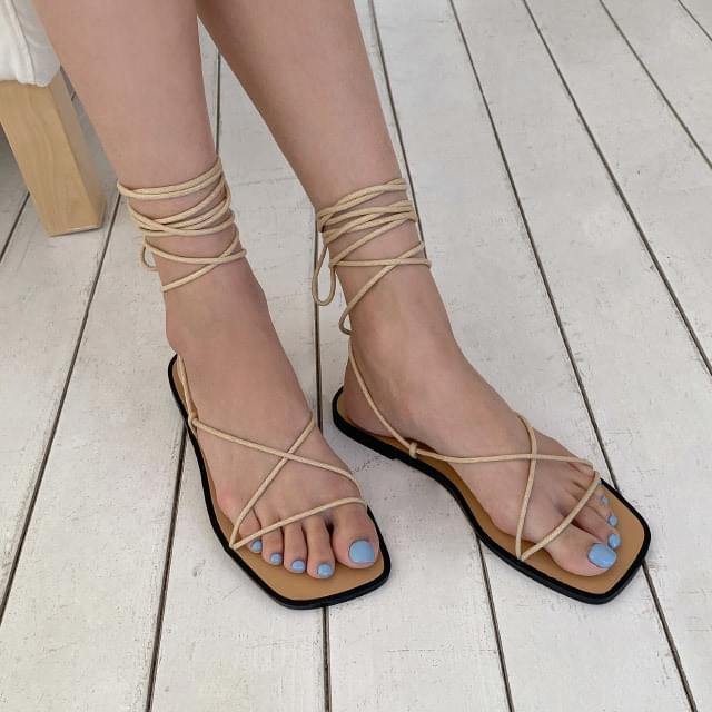Squareline strap sandals