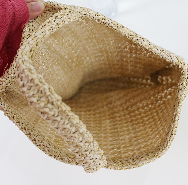 Round rattan bag