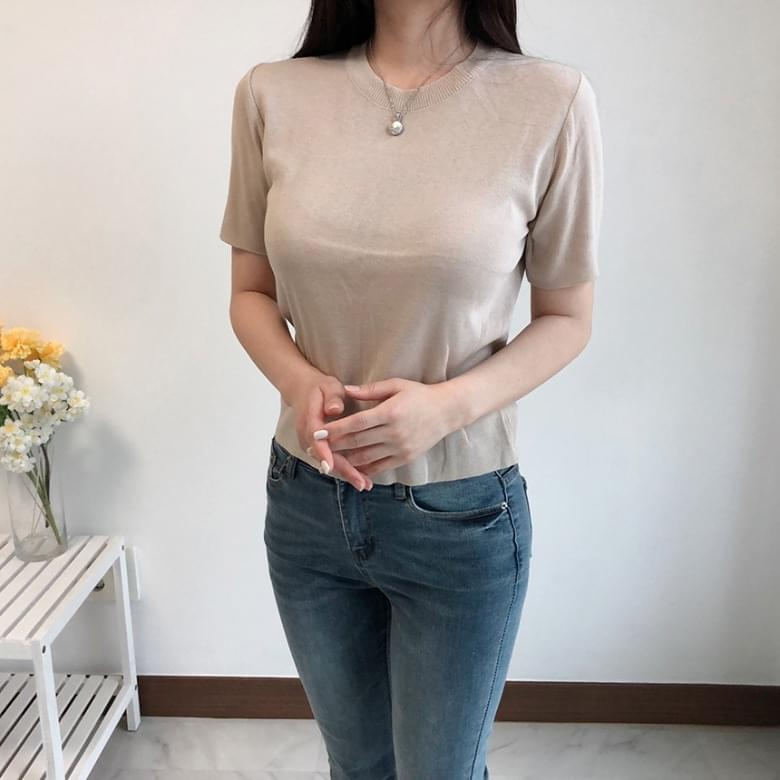 Freejay Basic Round Knit T-Shirt 5colors