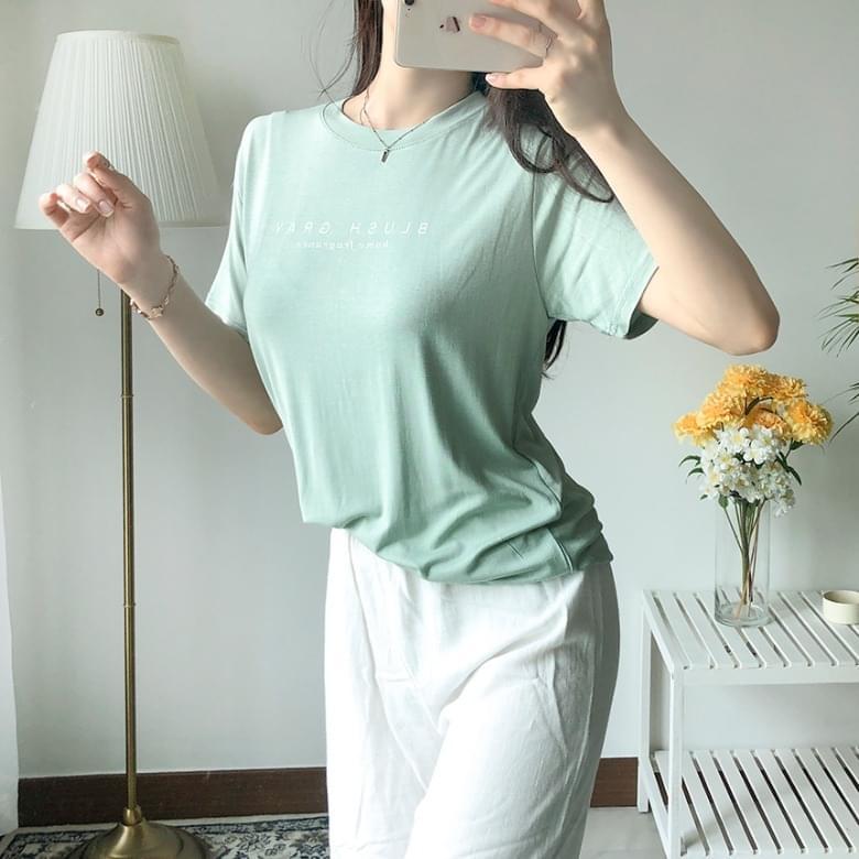 Freejay Spring Tencel Short Sleeve T-Shirt 4colors