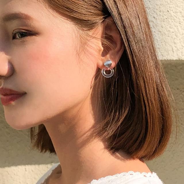 4-type clear earring set