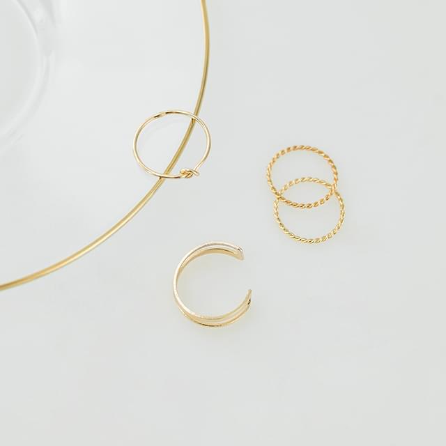 layering simple 4 ring set