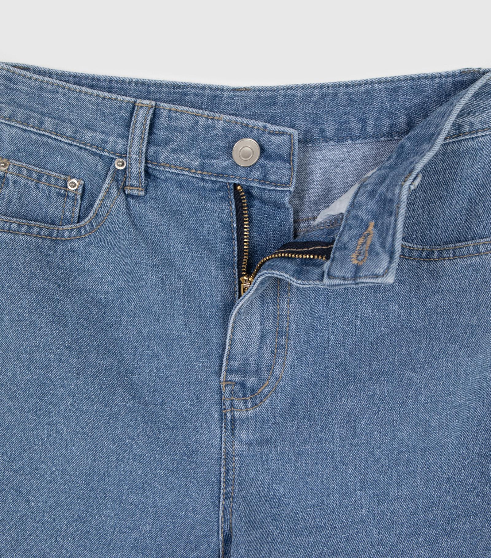 Bike slit half jeans