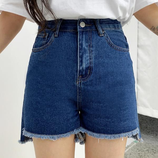 Constance unbal denim short pants