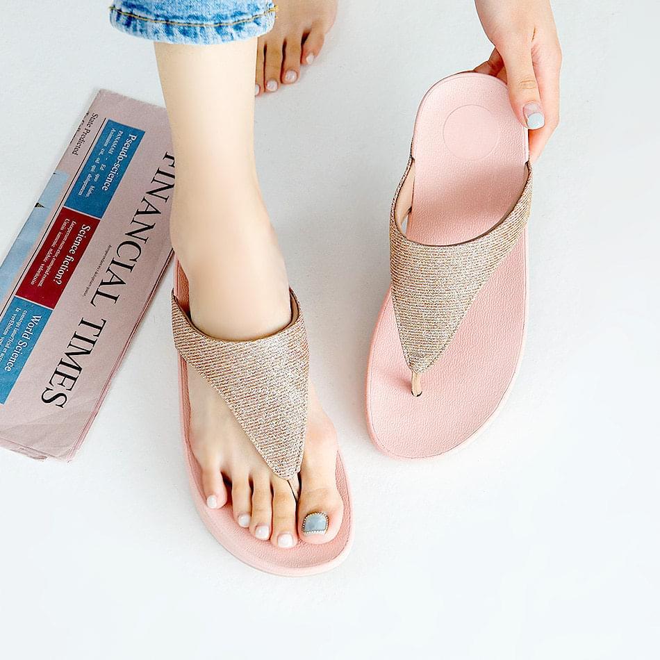 Volume flat slippers 4 cm