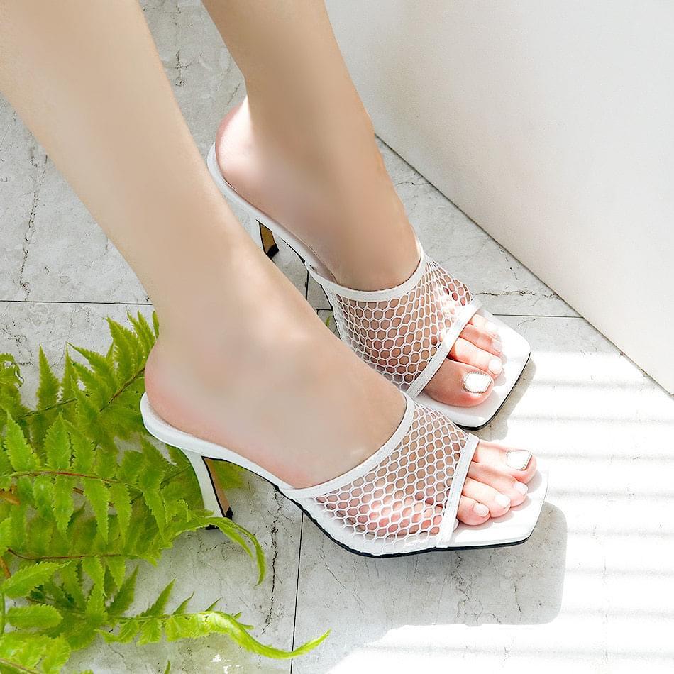 Lueta Mule Slippers 8cm
