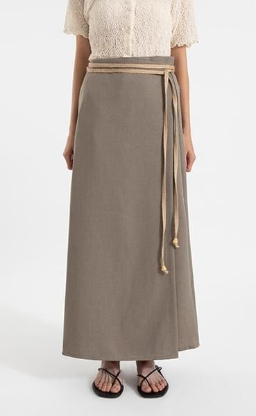 Rebecca Strap Wrap Maxi Skirt