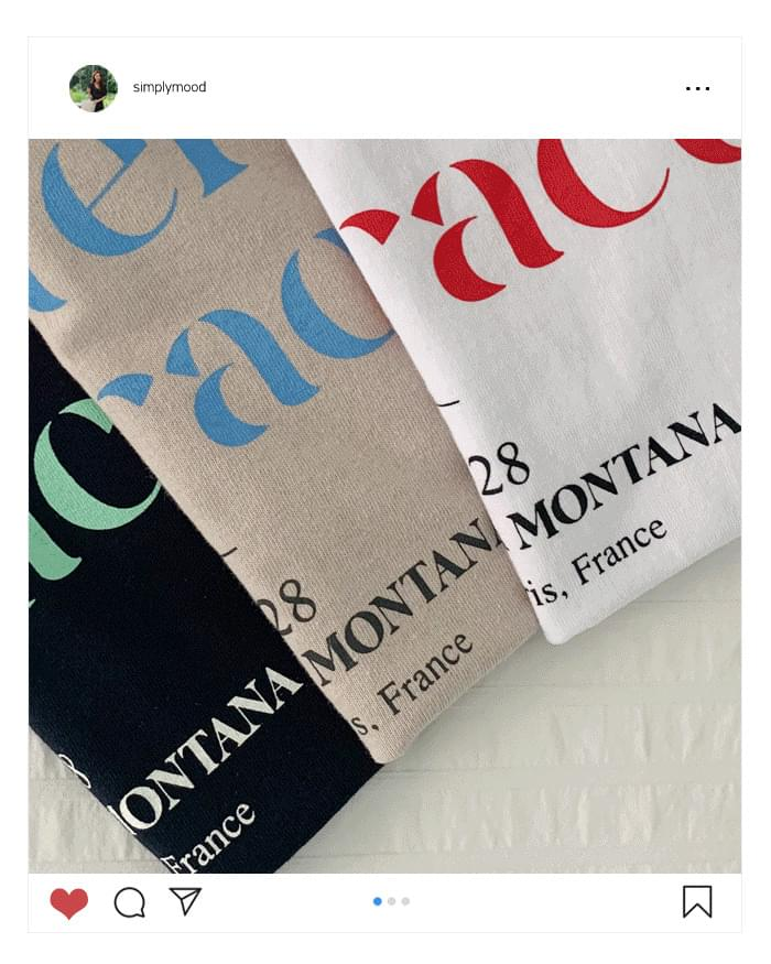 Montana Daily Lettering T-Shirt