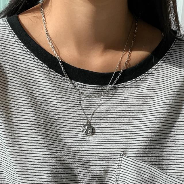 Two-Chain Pendant Necklace