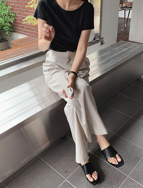 韓國空運 - Reno Round Short Sleeve Tee 短袖上衣