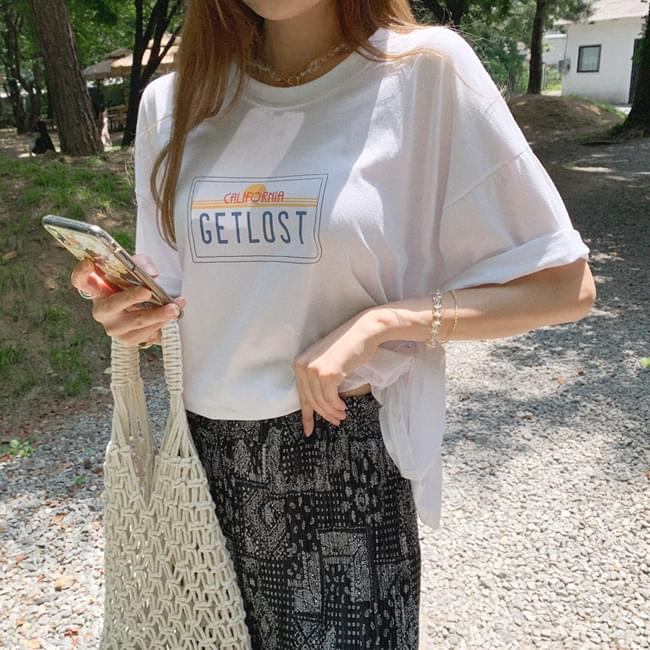 Get Lost Tear Incision Printing T-shirt