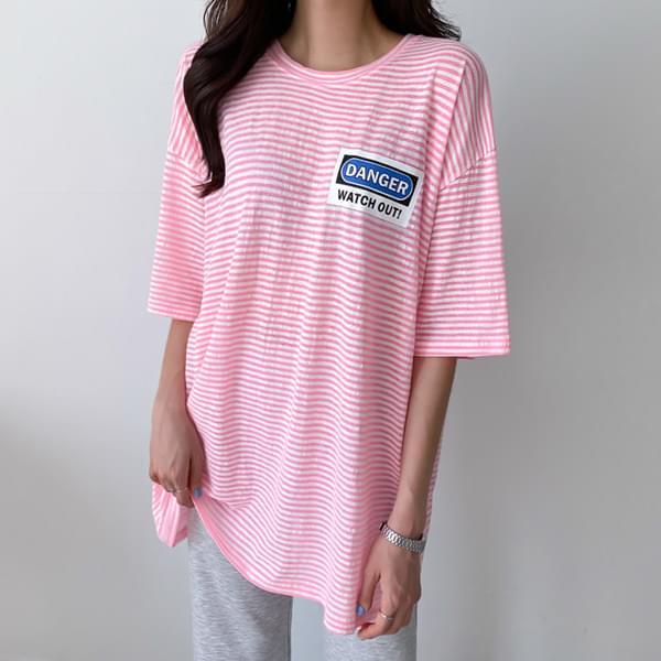 Danger Striped T-shirt #108174