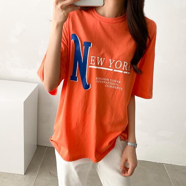 New York lettering short-sleeved t-shirt #108074