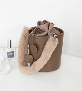 Luxury fur round bag #85553