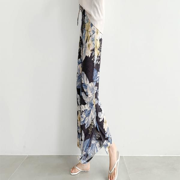 Exotic pattern side trim trousers #75348