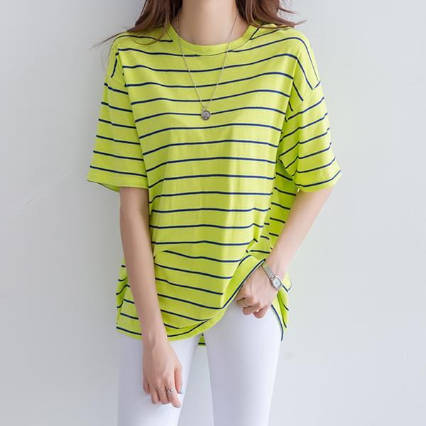 Soho Basic Stripe T-shirt #105695