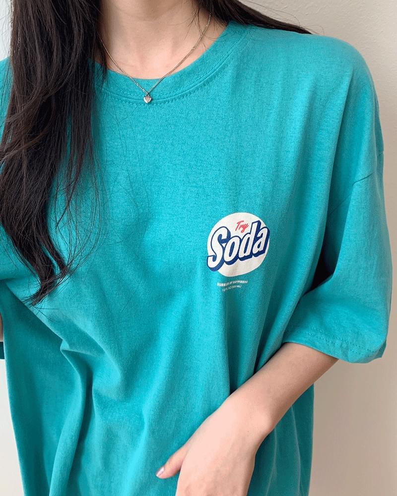Soda Flick Loose Fit Over Short-sleeved T-shirt